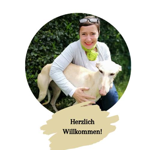 Sabine Dyck mit Hund